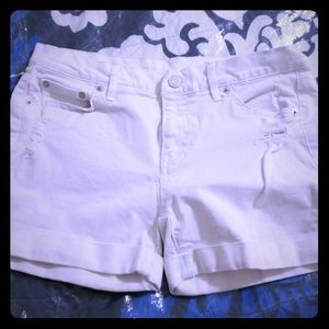 Gap white distressed Jean shorts 25r